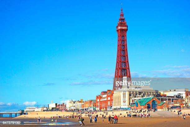 The Famous Old Tower At Blackpoolin Lancashire England Uk