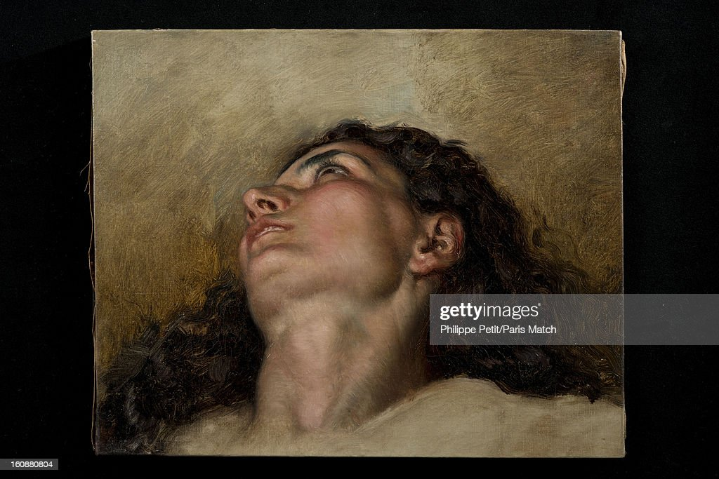 The famous painting 'L'Origine du Monde' by <a gi-track='captionPersonalityLinkClicked' href=/galleries/search?phrase=Gustave+Courbet&family=editorial&specificpeople=98922 ng-click='$event.stopPropagation()'>Gustave Courbet</a> is photographed for Paris Match on January 31, 2013 in Paris, France. PUBLISHED IMAGE. The face of the woman who was famously painted by Courbet and was discover by an art lover in an antique shop. After two years of investigation, the painting was authenticated as the missing part of the famous painting 'L'Origine du Monde' by <a gi-track='captionPersonalityLinkClicked' href=/galleries/search?phrase=Gustave+Courbet&family=editorial&specificpeople=98922 ng-click='$event.stopPropagation()'>Gustave Courbet</a>, revealing the face and body of his mistress Joanna Hifferman.
