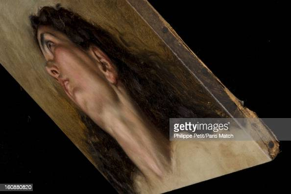 The famous painting 'L'Origine du Monde' by Gustave Courbet is photographed for Paris Match on January 31 2013 in Paris France PUBLISHED IMAGE The...