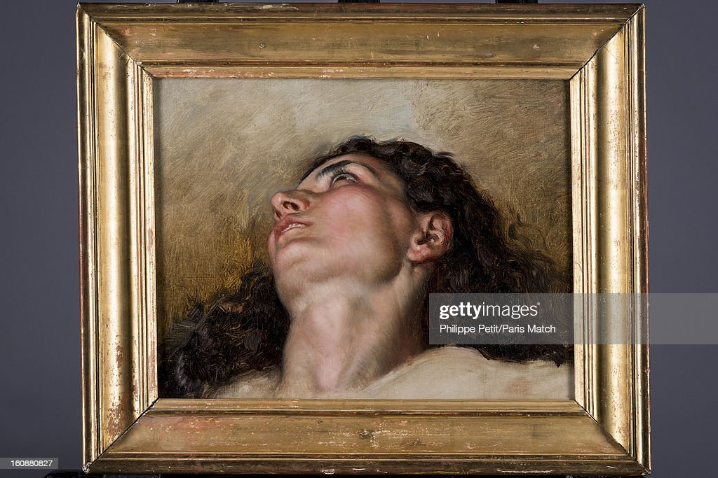 The famous painting 'L'Origine du Monde' by <a gi-track='captionPersonalityLinkClicked' href=/galleries/search?phrase=Gustave+Courbet&family=editorial&specificpeople=98922 ng-click='$event.stopPropagation()'>Gustave Courbet</a> is photographed for Paris Match on January 31, 2013 in Paris, France. PUBLISHED IMAGE. The face of the woman who was famously painted by Courbet was discover by an art lover in an antique shop. After two years of investigation, the painting was authenticated as the missing part of the famous painting 'L'Origine du Monde' by <a gi-track='captionPersonalityLinkClicked' href=/galleries/search?phrase=Gustave+Courbet&family=editorial&specificpeople=98922 ng-click='$event.stopPropagation()'>Gustave Courbet</a>, revealing the face and body of his mistress Joanna Hifferman.