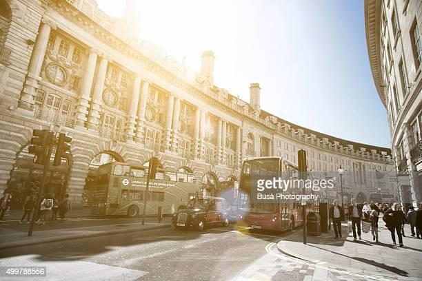 The famous Regent Street in London, UK