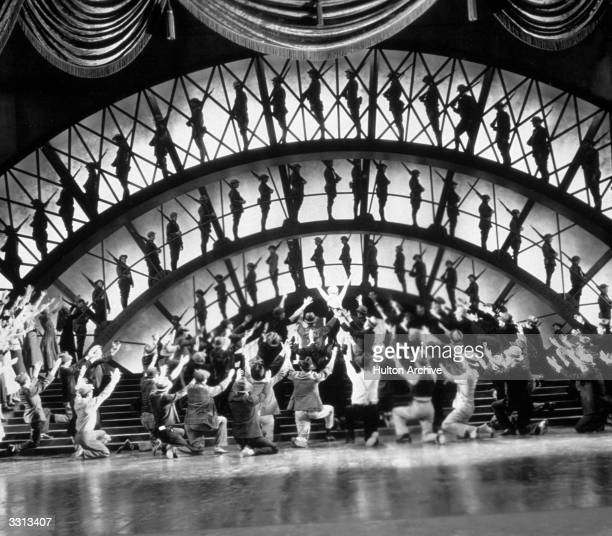 The famous 'Remember My Forgotten Men' sequence from the Busby Berkeley film 'Gold Diggers Of 1933' directed by Mervyn Le Roy for Warner Brothers