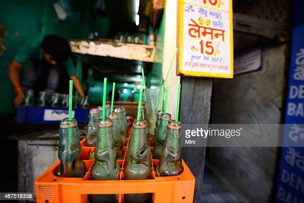 The famous soda lemonade shop in Chandni Chowk on August 20 2014 in New Delhi India Chandni Chowk often called the food capital of India is famous...