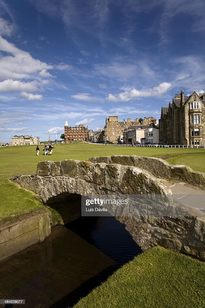 The famous Swilcan bridge on St Andrews Old Course