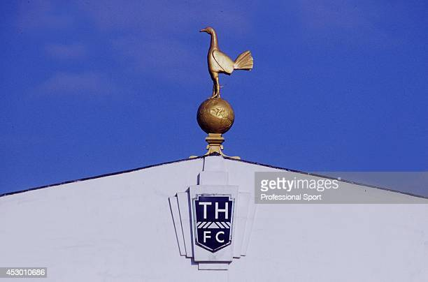 The famous Tottenham Hotspur cockerel on the old East Stand at White Hart Lane in North London circa 1980
