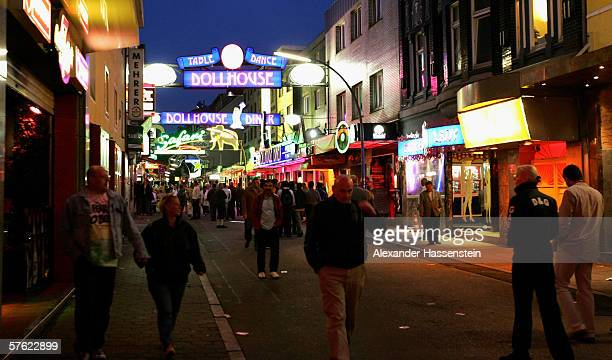 The famous tourist site 'Reeperbahn' seen on May 13 2006 in Hamburg Germany