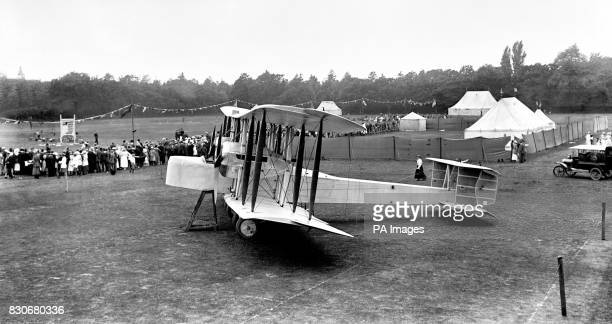 The famous Vimy aircraft in which John Alcock and Captian Arthur Whitton Brown crossed the Atlantic