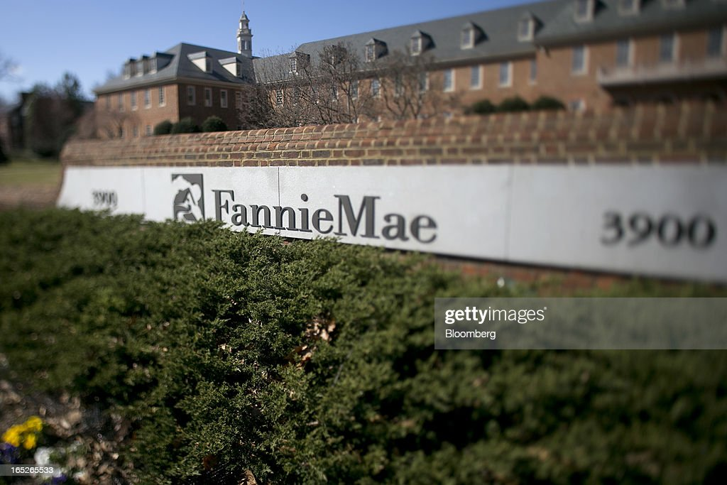 The Fannie Mae headquarters stands in this photograph taken with a tilt-shift lens in Washington, D.C., U.S., on Tuesday, April 2, 2013. Fannie Mae, the mortgage financier seized by U.S. regulators during the credit crisis, reported the largest annual profit in company history as a housing rebound helped the firm stop drawing federal aid. Photographer: Andrew Harrer/Bloomberg via Getty Images