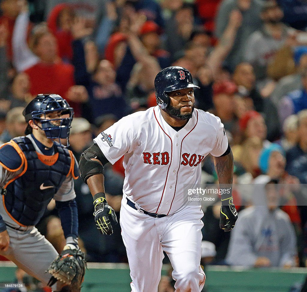 The fans erupt as David Ortiz rips his eighth inning grand slam that tied the game at 5-5. The Boston Red Sox hosted the Detroit Tigers in Game Two of the American League Championship Series at Fenway Park.