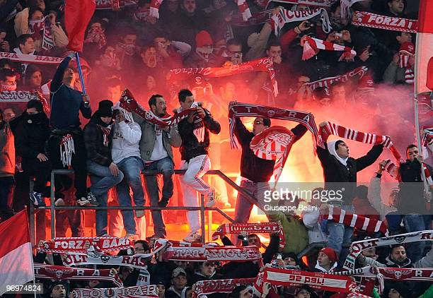 The fans of Bari during the Serie A match between AS Bari and AC Milan at Stadio San Nicola on February 21 2010 in Bari Italy