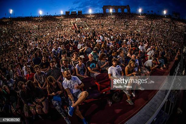 The fans of Mumford And Sons during their live concert at Arena di Verona