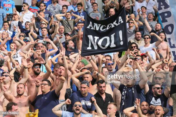 The fans of Napoli during the Serie A football match between Torino FC and SSC Napoli at Olympic stadium Grande Torino on may 14 2017 in Turin Italy...