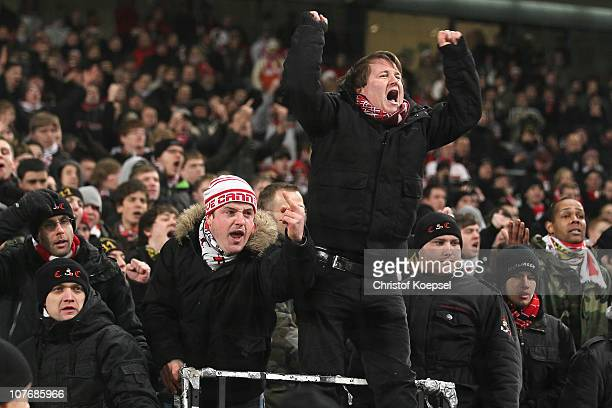 The fans of Stuttgart show their frustration after Stuttgart lost 35 the Bundesliga match between VfB Stuttgart and FC Bayern Muenchen at...