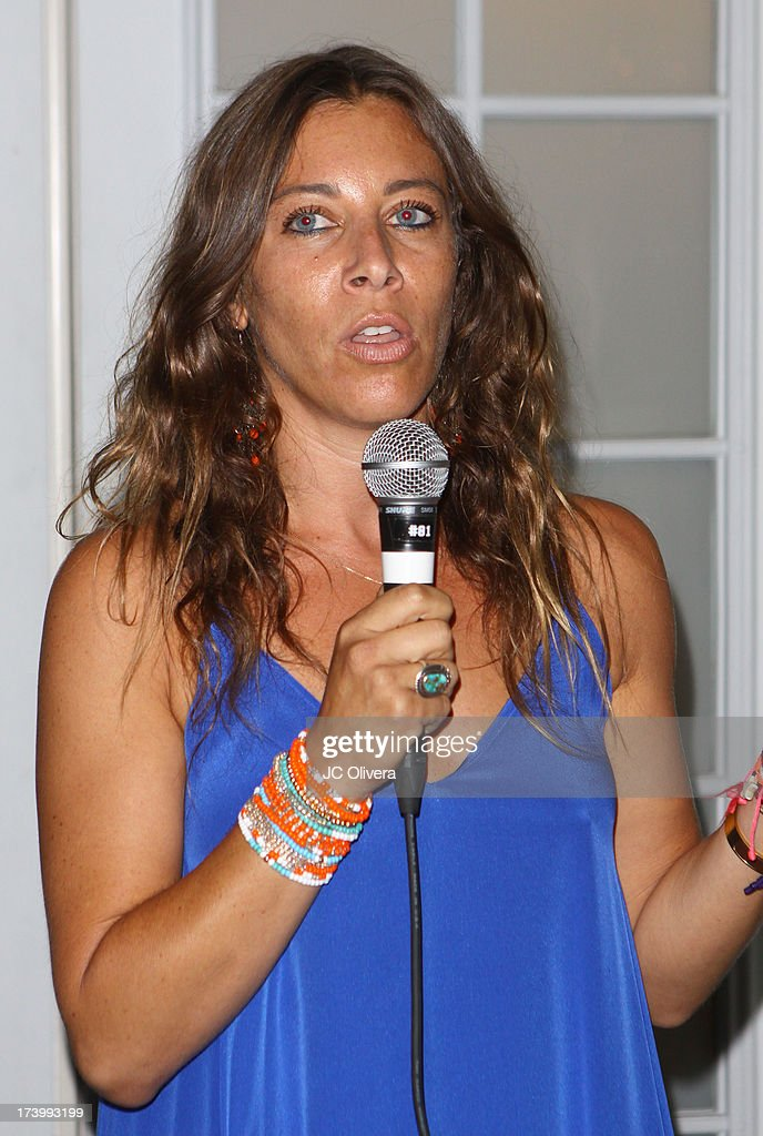 The Farley Projects Founder Elissa Kravetz speaks at The Farley Project's Summer Garden Fundraiser at Kravetz PR Offices & Courtyard on July 18, 2013 in West Hollywood, California.