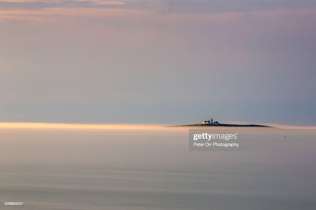 The Farne Islands in Sea Mist