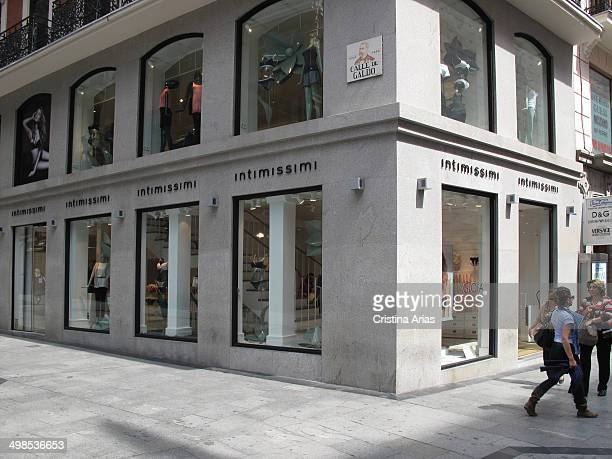 The fashion chain shop intimate Intimissimi in the calle Preciados in Madrid this chain of Italian origin belongs to Calzedonia group and that of the...