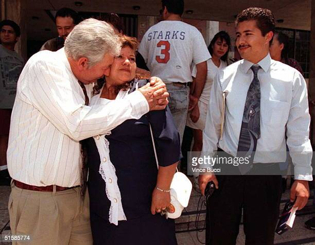 The father mother and brother of members of Mario Aburto the convicted assassin of Mexican presidential candidate Luis Donaldo Colosio Rueben Aburto...