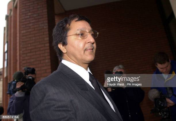 The father of Asian student Sarfraz Najeib Muhammad Najeib arrives at Hull Crown Court where Leeds United soccer stars Jonathan Woodgate and Lee...