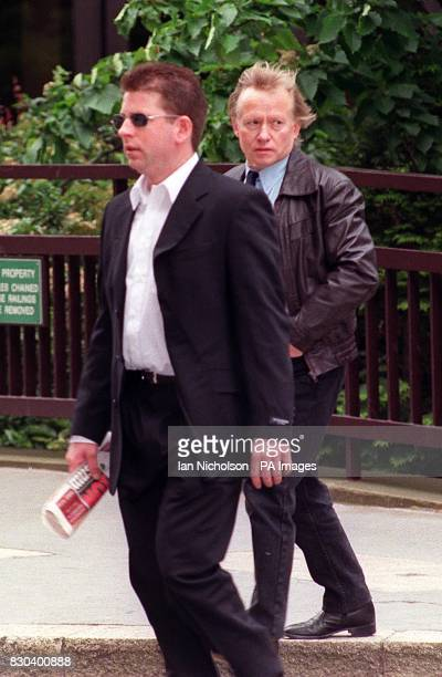 The father of nail bomber David Copeland Stephen arrives at the Old Bailey in London with son Jonathan David an engineer from Sunnybank Road...