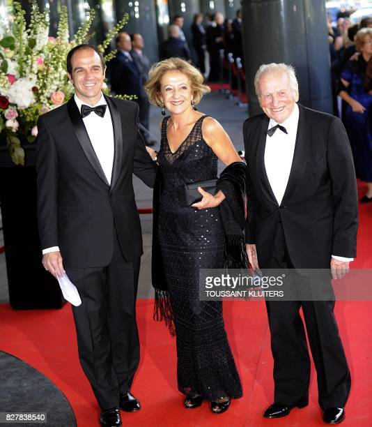 The father of princess Maxima Argentinian Jorge Zorreguieta her mother Maria and brother Martin Zorreguieta arrive at the Concertgebouw in Amsterdam...