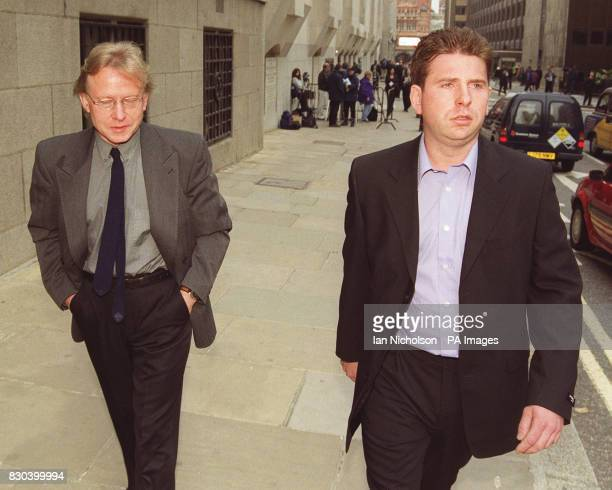 The father of the Soho nailbomber Stephen Copeland walking with his son Jonathan at the Old Bailey in London for the trial of David Copeland *...