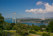 The Fatih Sultan Mehmet Bridge on Bosphorus