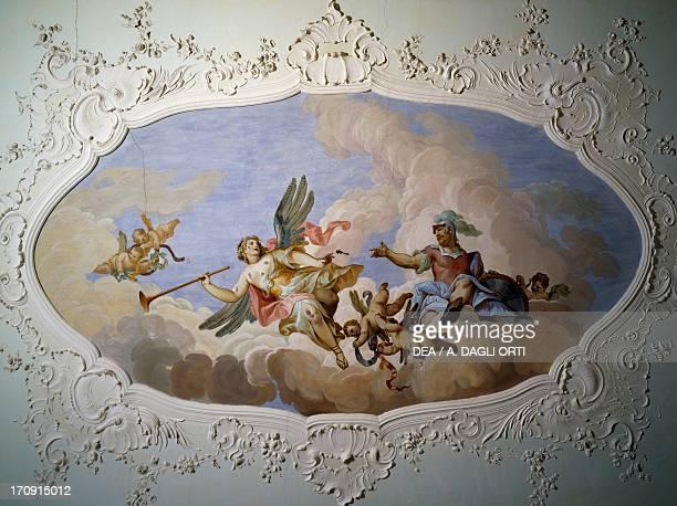 The fauna fresco by Jacopo Guarana Villa Bettoni Bogliaco di Gargnano Lombardy Italy