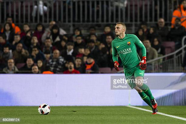 The FC Barcelona goalkeeper Jasper Cillessen from Holland during the Spanish Copa del Rey round of 32 second leg match between FC Barcelona vs...