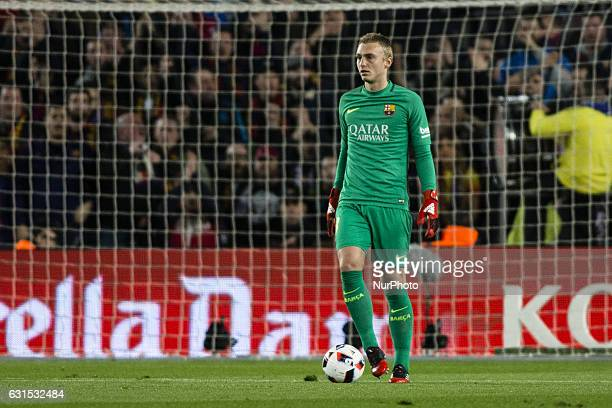 The FC Barcelona goalkeeper Jasper Cillessen from Holland during the Spanish Copa del Rey round of 8 second leg match between FC Barcelona vs...