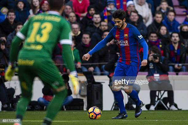 The FC Barcelona player Andre Gomes from Portugal during the La Liga match between FC Barcelona vs UD Las Palmas at the Camp Nou stadium on January...