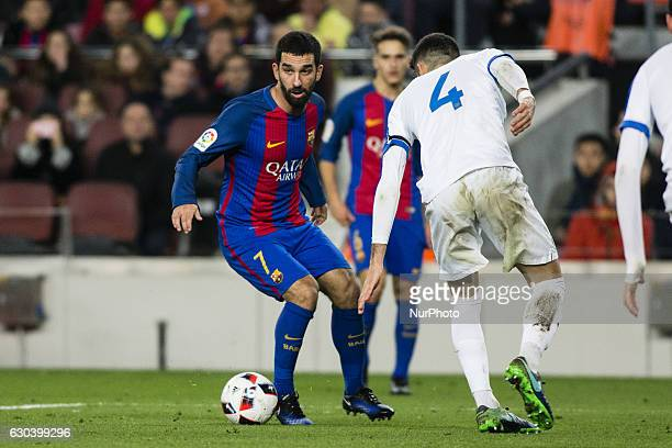 The FC Barcelona player Arda Turan from Turkey during the Spanish Copa del Rey round of 32 second leg match between FC Barcelona vs Hercules CF at...