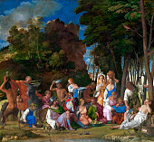 The Feast of the Gods 151429 The story is from the poem The Feasts or Fasti by Ovid and pictures a winesoaked banquet featuring the following...