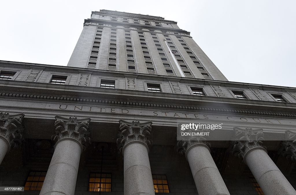 The federal courthouse in Manhattan October 23 2014 in New York The courthouse was where attorneys presented the case against the UN over the Cholera...