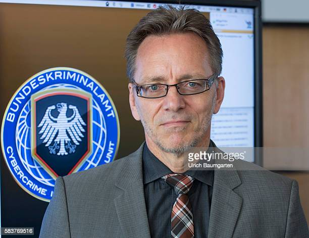The Federal Criminal Investigation in Wiesbaden provides federal situation report cybercrime 2015 Holger Muench President of the BKA in front of the...