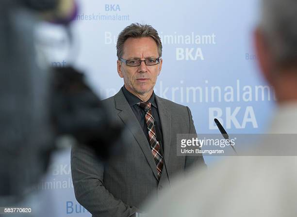 The Federal Criminal Investigation in Wiesbaden provides federal situation report cybercrime 2015 Holger Muench President of the BKA during the press...