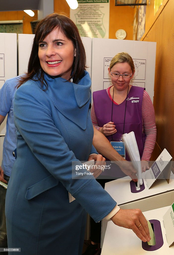 The Federal member for Robertson Lucy Wicks votes at East Gosford Public School in the electorate of Robertson on July 2, 2016 in Gosford, Australia. Voters head to the polls today to elect the 45th parliament of Australia.