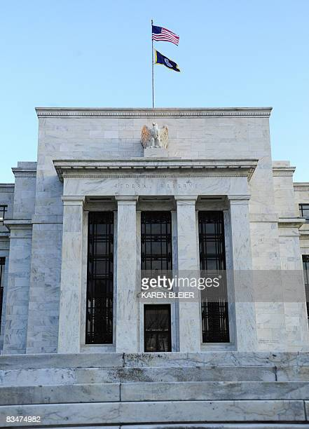 The Federal Reserve Building is seen early October 29 2008 in Washington DC The US Federal Reserve was widely expected to deliver another cut in...