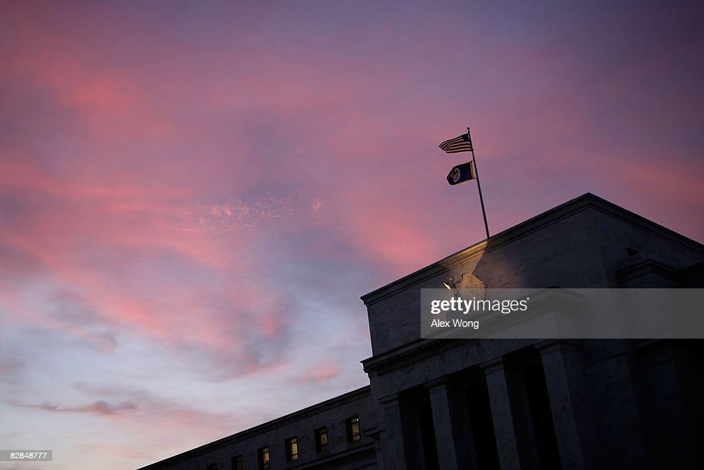 The Federal Reserve is seen on the National Mall September 16 2008 in Washington DC The Federal Open Market Committee met today and announced they...