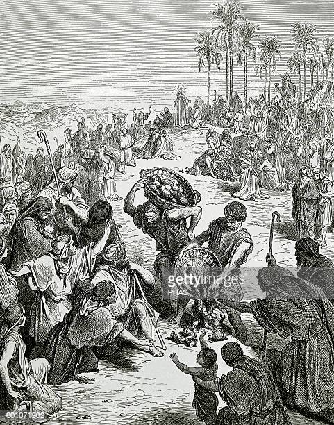 The Feeding of the 4000 Gospel of Matthew Chapter 15 Verses 30 to 37 Illustration by Gustave Dore
