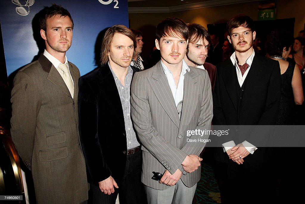 The Feeling (L-R) Paul Stewart, Kevin Jeremiah, Dan Gillespie Sells, Ciaran Jeremiah and Richard Jones arrive at the Nordoff-Robbins O2 Silver Clef Luncheon on June 29, 2007 in London, England.