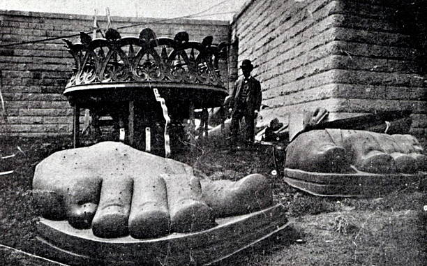 NY: 17 June 1885 - The Statue Of Liberty Arrives To Be Assembled In NY Harbor