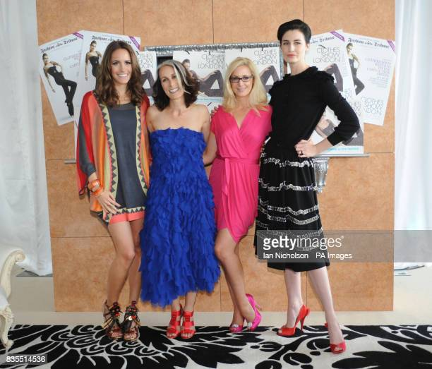 The female cast of the Clothes Show Louise Roe Caryn Franklin Nicky HambletonJones and Erin O'Connor attending the Clothes Show 2009 London...