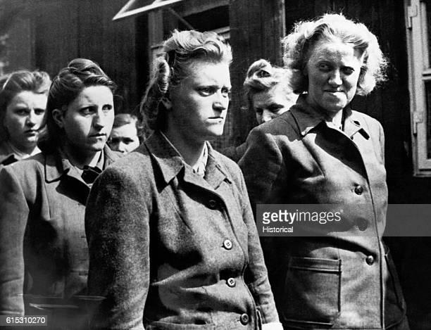 The female SS guards at Bergen Belsen in custody
