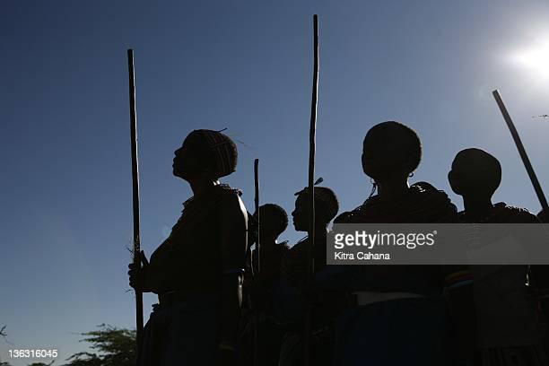 The feminist Umoja village in the Samburu region of northern Kenya in May 2008 Leader of the community is Rebecca Lolosoli She has banded together...