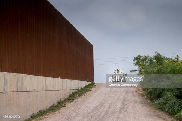The fence along the border between the United States and Mexico on April 25 2014 in Hidalgo Texas According to the US Border Patrol undocumented...