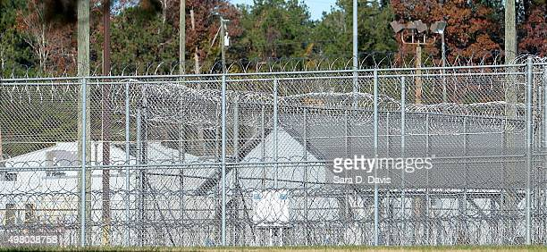 The fence around the federal prison in Butner North Carolina where convicted Israel spy Jonathan Pollard was released from is seen on November 20...