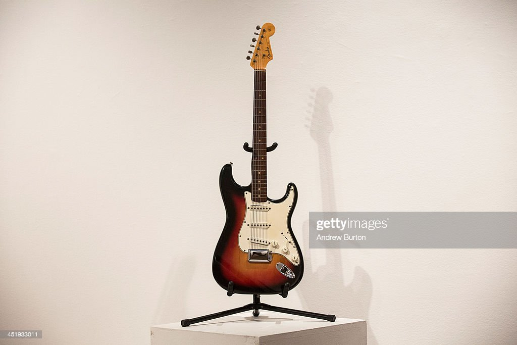 The Fender Stratocaster electric guitar played by musician Bob Dylan on July 25 1965 at Newport Folk Festival better known as 'the night Dyan went...