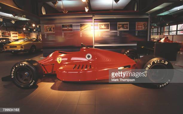 The Ferrari 637 racing car designed by Gustav Brunner to run in the American CART Indycar series on display at the Ferrari Museum on 6 February 2002...