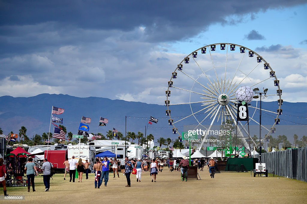 The ferris wheel is seen from the RV park during 2016 Stagecoach California's Country Music Festival at Empire Polo Club on April 30, 2016 in Indio, California.