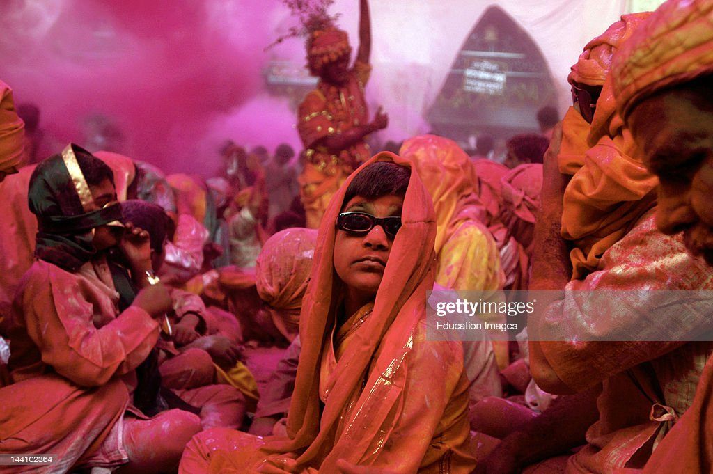 The Fervor Of Holi At Barsana In Uttar Pradesh India